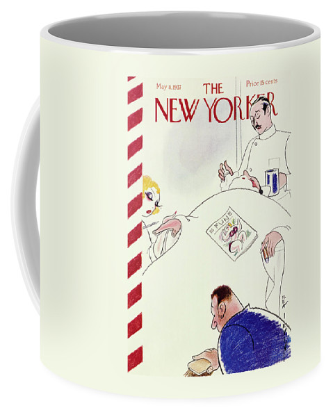 Beauty Coffee Mug featuring the painting New Yorker May 8 1937 by Rea Irvin