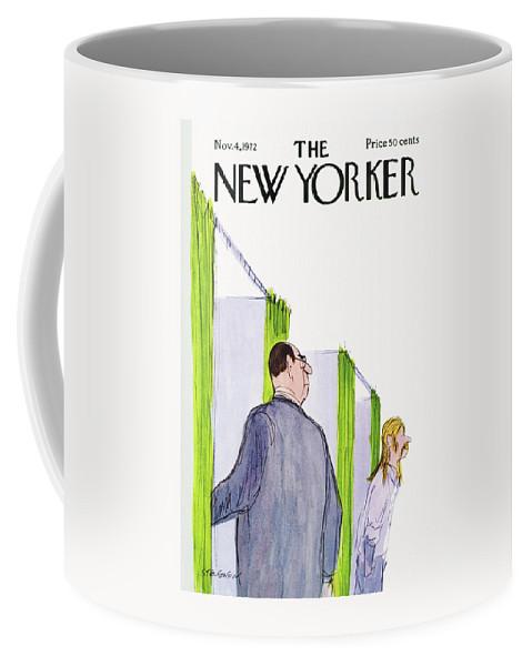 James Stevenson Jst Coffee Mug featuring the painting New Yorker November 4th, 1972 by James Stevenson