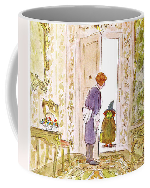 Halloween Coffee Mug featuring the painting New Yorker November 4th, 1974 by James Stevenson
