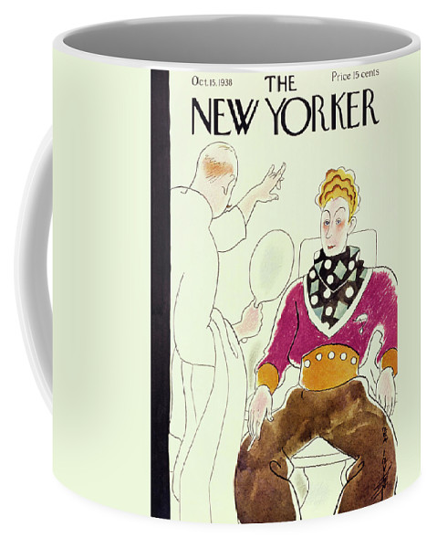 Illustration Coffee Mug featuring the painting New Yorker October 15 1938 by Rea Irvin