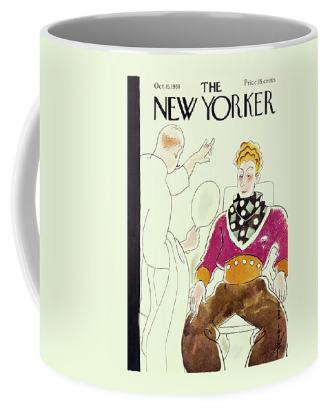 Beauty Coffee Mug featuring the painting New Yorker October 15 1938 by Rea Irvin