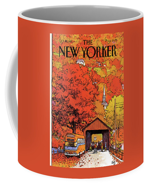 Season Coffee Mug featuring the painting New Yorker October 19th, 1981 by Arthur Getz