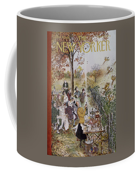 Animals Coffee Mug featuring the painting New Yorker October 20th, 1962 by Mary Petty