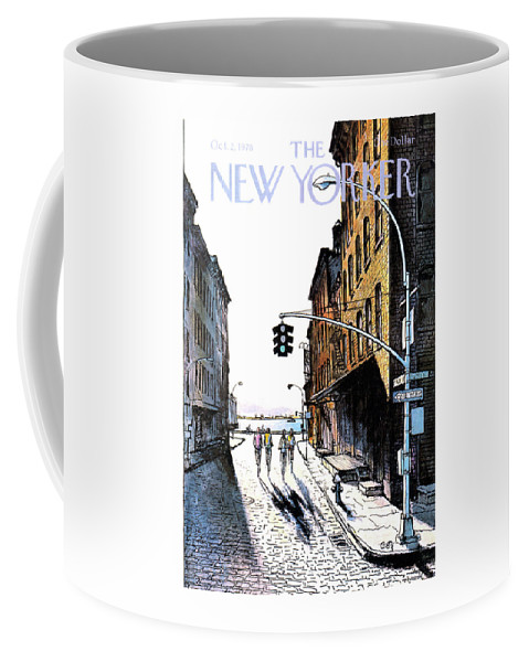 People Coffee Mug featuring the painting New Yorker October 2nd, 1978 by Arthur Getz