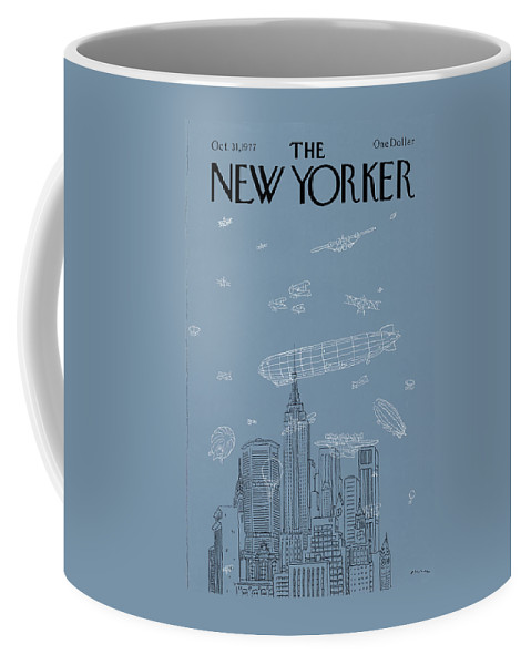 New York City Coffee Mug featuring the painting New Yorker October 31st, 1977 by RO Blechman