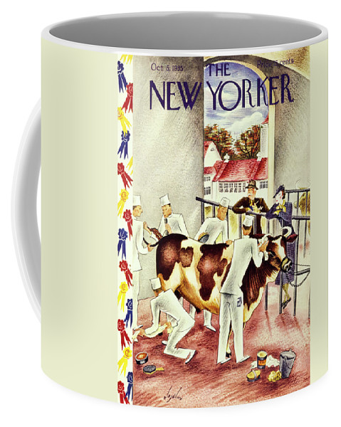 Illustration Coffee Mug featuring the painting New Yorker October 5 1935 by Constantin Alajalov