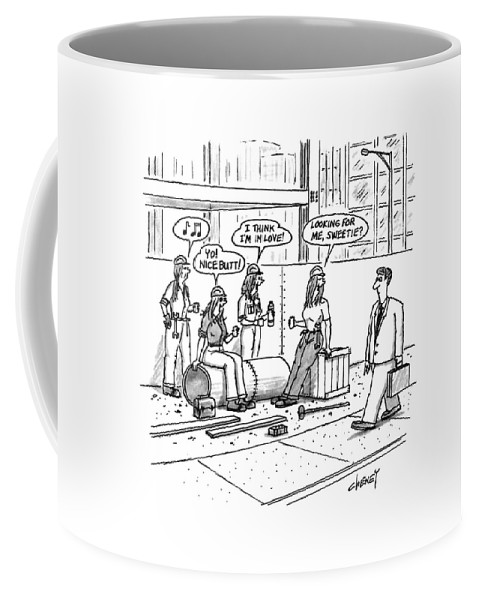 Urban Coffee Mug featuring the drawing New Yorker October 5th, 1992 by Tom Cheney