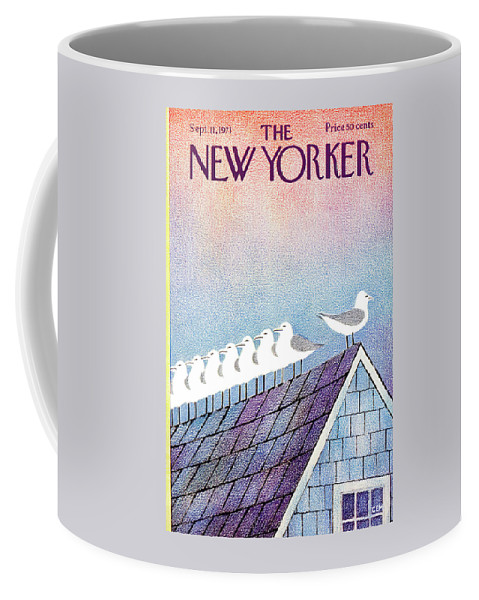 Animals Coffee Mug featuring the painting New Yorker September 11th, 1971 by Charles E Martin