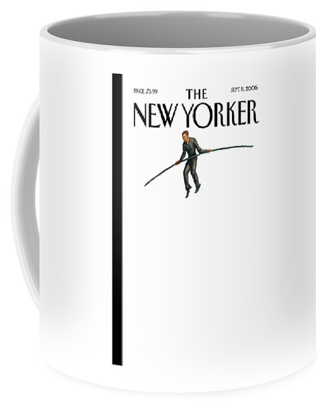 122849 Owen Smith Coffee Mug featuring the painting New Yorker September 11th, 2006 by Owen Smith