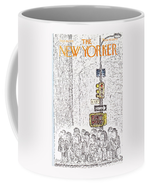 Corner Coffee Mug featuring the painting New Yorker September 16th, 1974 by Edward Koren