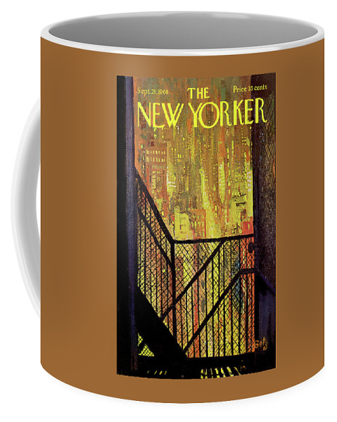 Arthur Getz Agt Coffee Mug featuring the painting New Yorker September 21st, 1968 by Arthur Getz