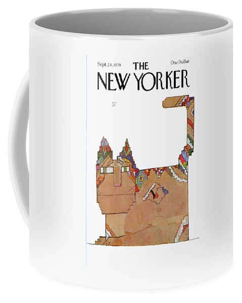 Saul Steinberg 50459 Steinbergattny  Coffee Mug featuring the painting New Yorker September 24th, 1979 by Saul Steinberg
