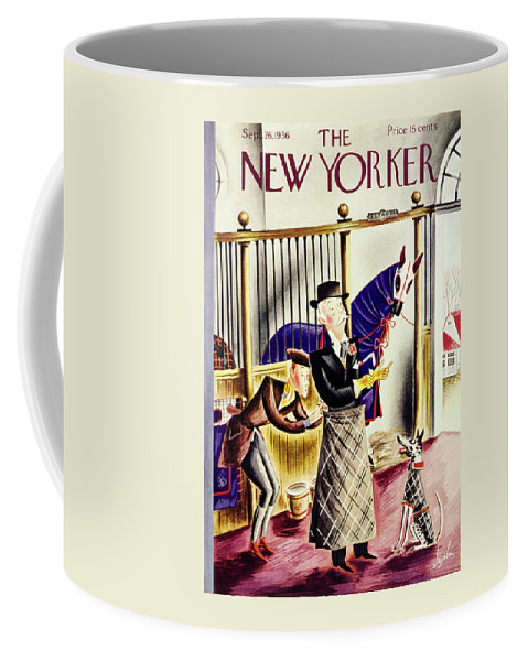 Animal Coffee Mug featuring the painting New Yorker September 26 1936 by Constantin Alajalov
