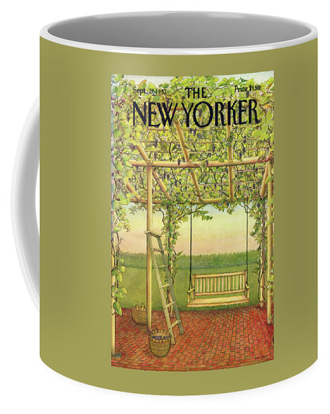 Leisure Coffee Mug featuring the painting New Yorker September 27th, 1982 by Jenni Oliver