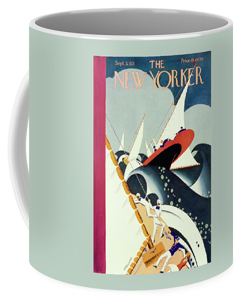 Illustration Coffee Mug featuring the painting New Yorker September 5 1931 by Theodore G Haupt