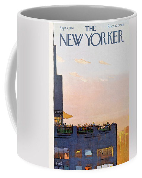 Arthur Getz Agt Coffee Mug featuring the painting New Yorker September 5th, 1970 by Arthur Getz