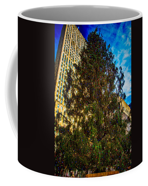 Holiday Coffee Mug featuring the photograph New York's Holiday Tree by Chris Lord