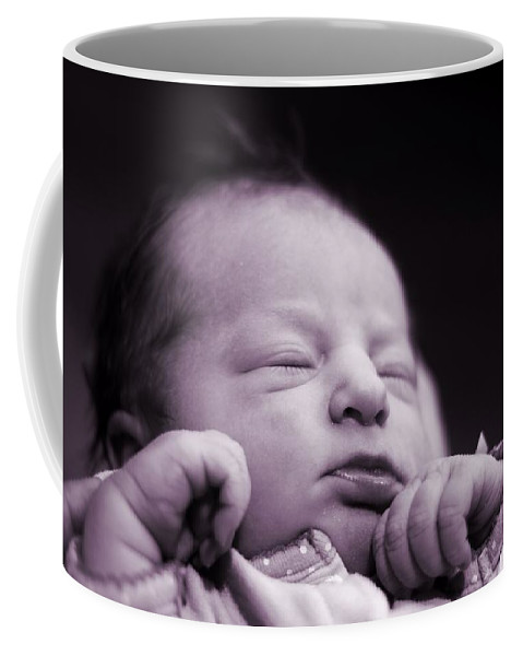 It's A Girl Coffee Mug featuring the photograph Newborn Baby by Dan Sproul