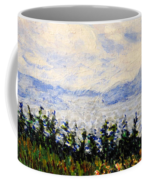 Newfoundland Coffee Mug featuring the painting Newfoundland Up The West Coast by Ian MacDonald