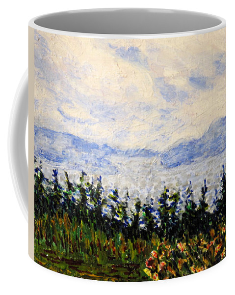 Newfoundland Coffee Mug featuring the painting Newfoundland Up The West Coast by Ian MacDonald