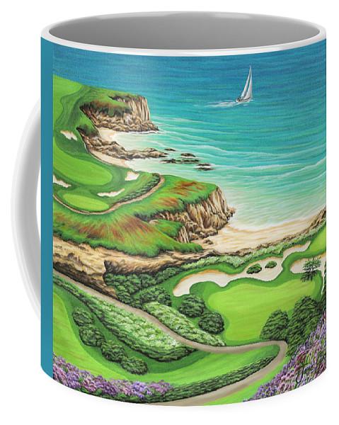 Ocean Coffee Mug featuring the painting Newport Coast by Jane Girardot