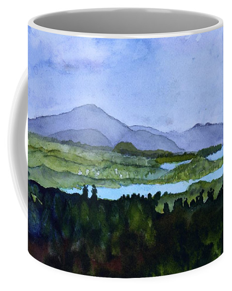 Newport Vt Coffee Mug featuring the painting Newport From Brownington Lookout by Donna Walsh