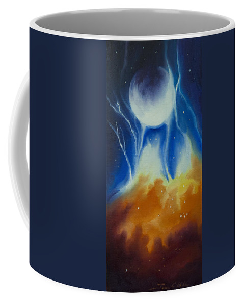 Space Coffee Mug featuring the painting Ngc 1031 by James Christopher Hill