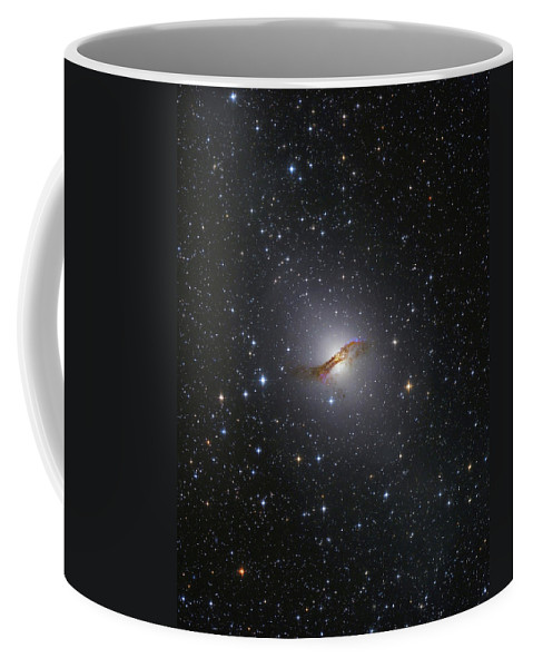Vertical Coffee Mug featuring the photograph Ngc 5128 Radio Galaxy by Lorand Fenyes