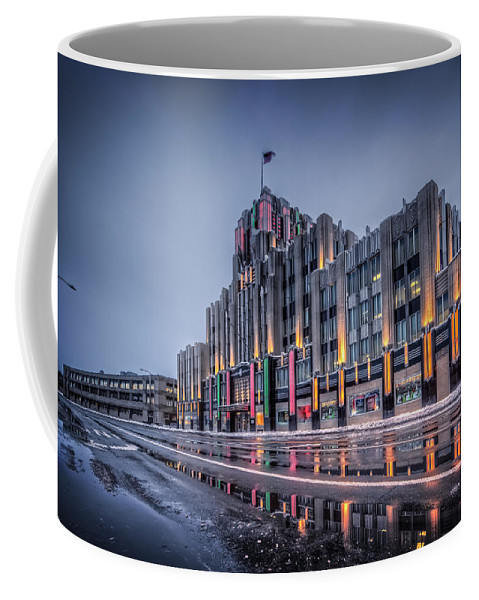 Niagara Coffee Mug featuring the photograph Niagara Mohawk Syracuse by Everet Regal