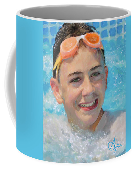 Portrait Coffee Mug featuring the painting Nick by Arthur Fix