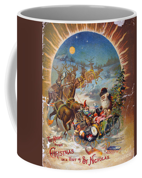 1896 Coffee Mug featuring the photograph Night Before Christmas by Granger