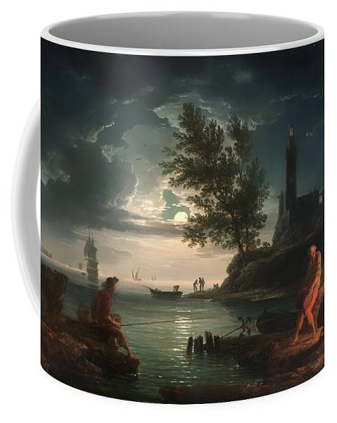 Painting Coffee Mug featuring the painting Night by Mountain Dreams