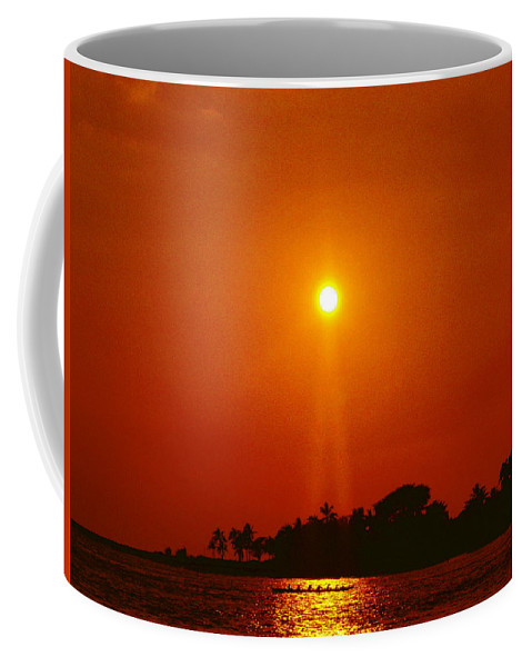 Sunset Coffee Mug featuring the photograph Night In Kona by Athala Carole Bruckner