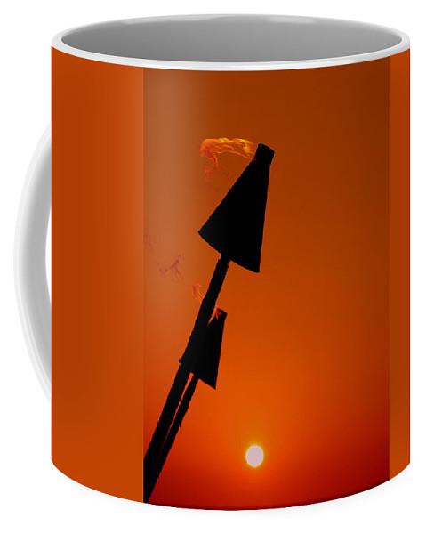 Tropical Coffee Mug featuring the photograph Night Light by Athala Carole Bruckner