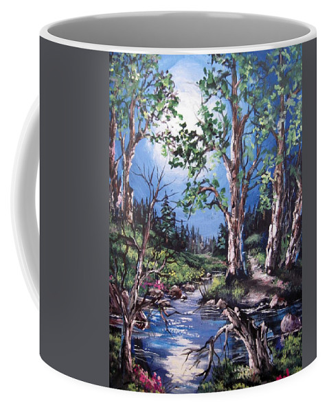 Acrylic On Canvas Panel Coffee Mug featuring the painting Night Music by Megan Walsh