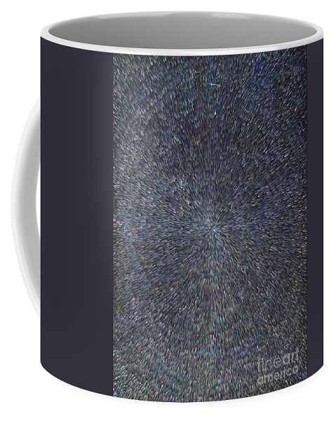 Abstract Coffee Mug featuring the painting Night Radiation by Dean Triolo