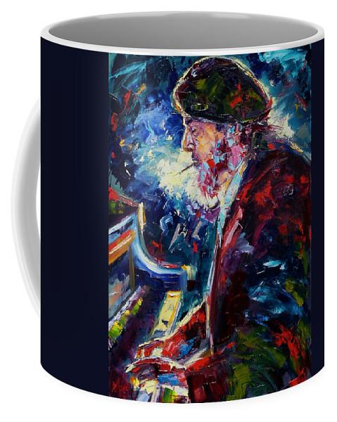 Blues Coffee Mug featuring the painting Night Tripper by Debra Hurd