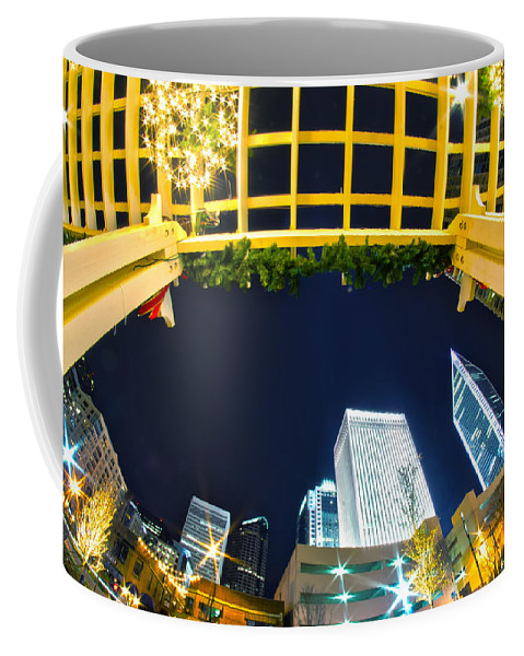 - Nightlife Coffee Mug featuring the photograph Nightlife Around Charlotte by Alex Grichenko