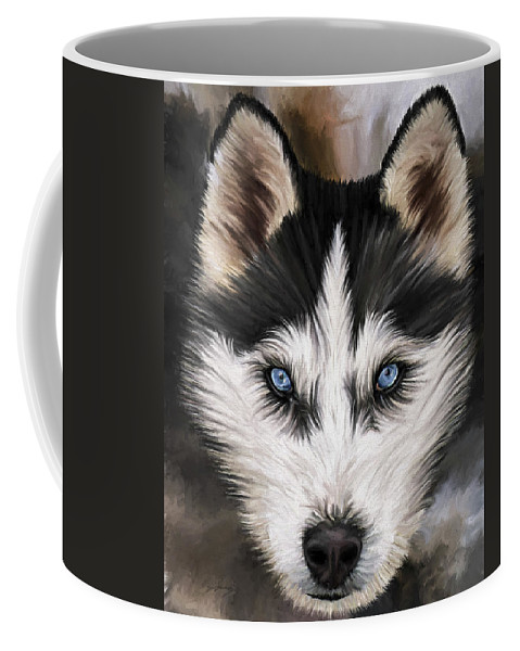 Dog Art Coffee Mug featuring the painting Nikki by David Wagner