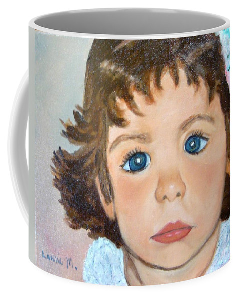 Portrait Coffee Mug featuring the painting Nikki by Laurie Morgan