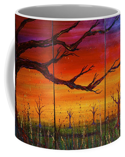 Tree Coffee Mug featuring the painting No. #1228 by Jacqueline Athmann