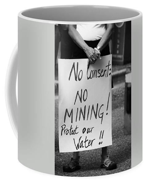 Street Photography Coffee Mug featuring the photograph No Consent X by The Artist Project