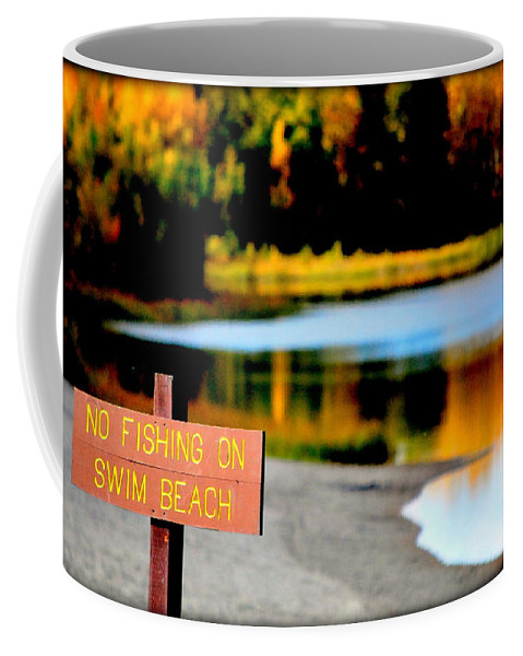 Lake Coffee Mug featuring the photograph No Fishing II by Kathy Sampson