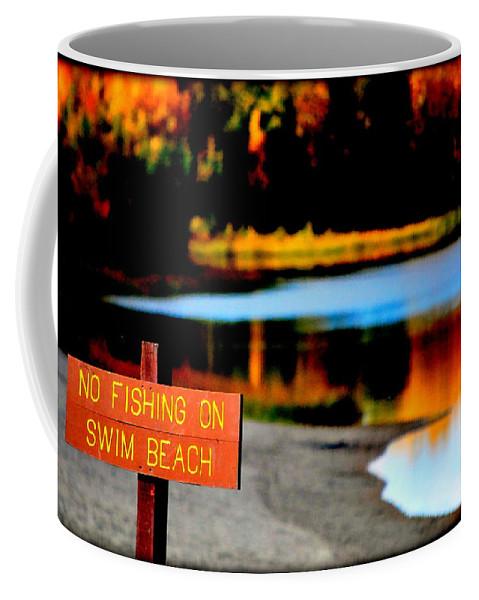 Lake Coffee Mug featuring the photograph No Fishing IIi by Kathy Sampson