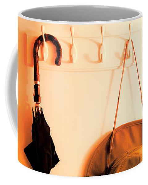 Umbrella Coffee Mug featuring the photograph No Rain Today by Bob Orsillo