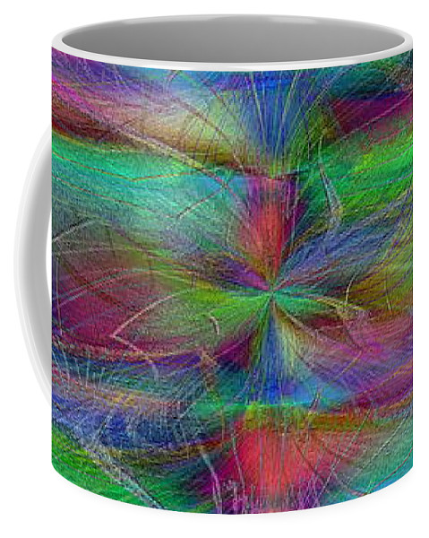 Abstract Coffee Mug featuring the digital art No Strings Attatched by Tim Allen
