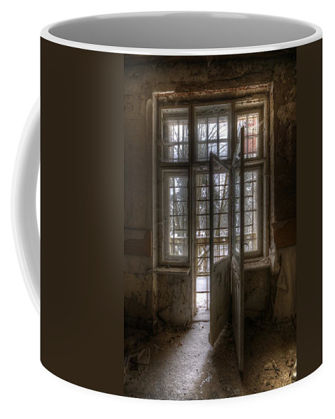 Old Coffee Mug featuring the digital art No Way Out by Nathan Wright