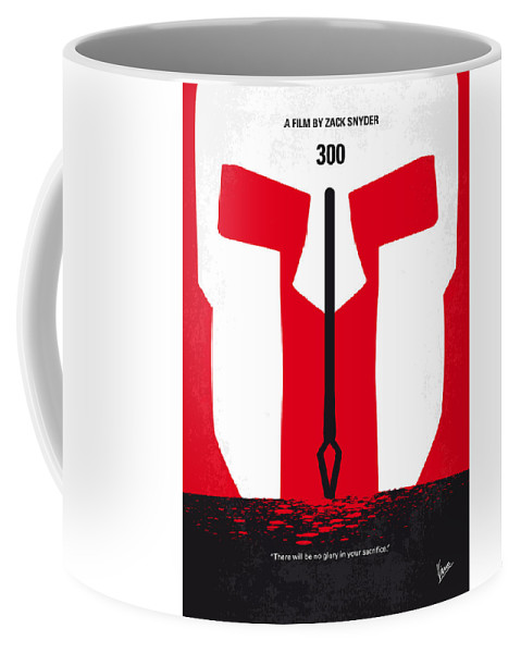 300 Coffee Mug featuring the photograph No001 My 300 Minimal Movie Poster by Chungkong Art