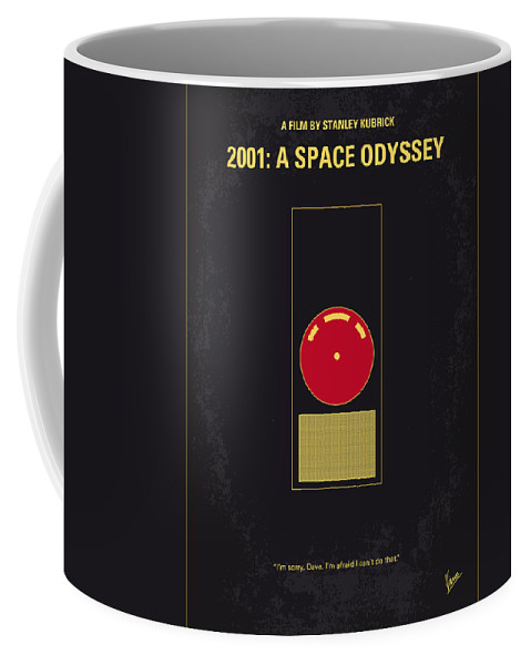 2001: A Space Odyssey Coffee Mug featuring the digital art No003 My 2001 A space odyssey 2000 minimal movie poster by Chungkong Art