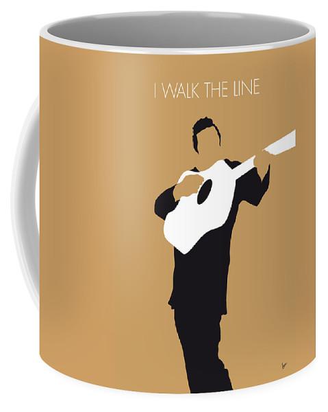 Johnny Coffee Mug featuring the digital art No010 My Johnny Cash Minimal Music Poster by Chungkong Art